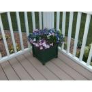 """12"""" Prestige Planter Box (will hold 10"""" pot) - Green"""