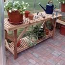 Juliana 4 Foot Cedar Staging Table