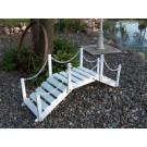 Decorative Garden Bridge w/ posts & chain - White