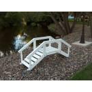 Decorative Garden Bridge w/ posts & rails - White
