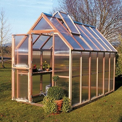 Classy Wood Framed Greenhouses Look Great In You Backyard.