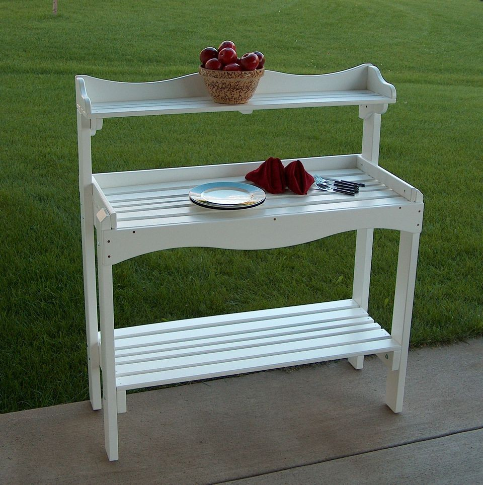 Backyard Buffet/Gardener's Workbench - White