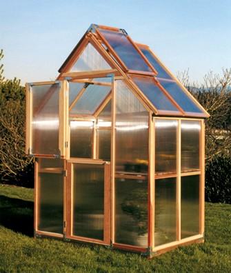 """Sunshine Mt. Hood 6'x4"""" Gardenhouse - Single Door"""