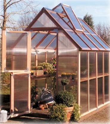 Sunshine Mt. Hood 6'x8' GardenHouse - Single Door