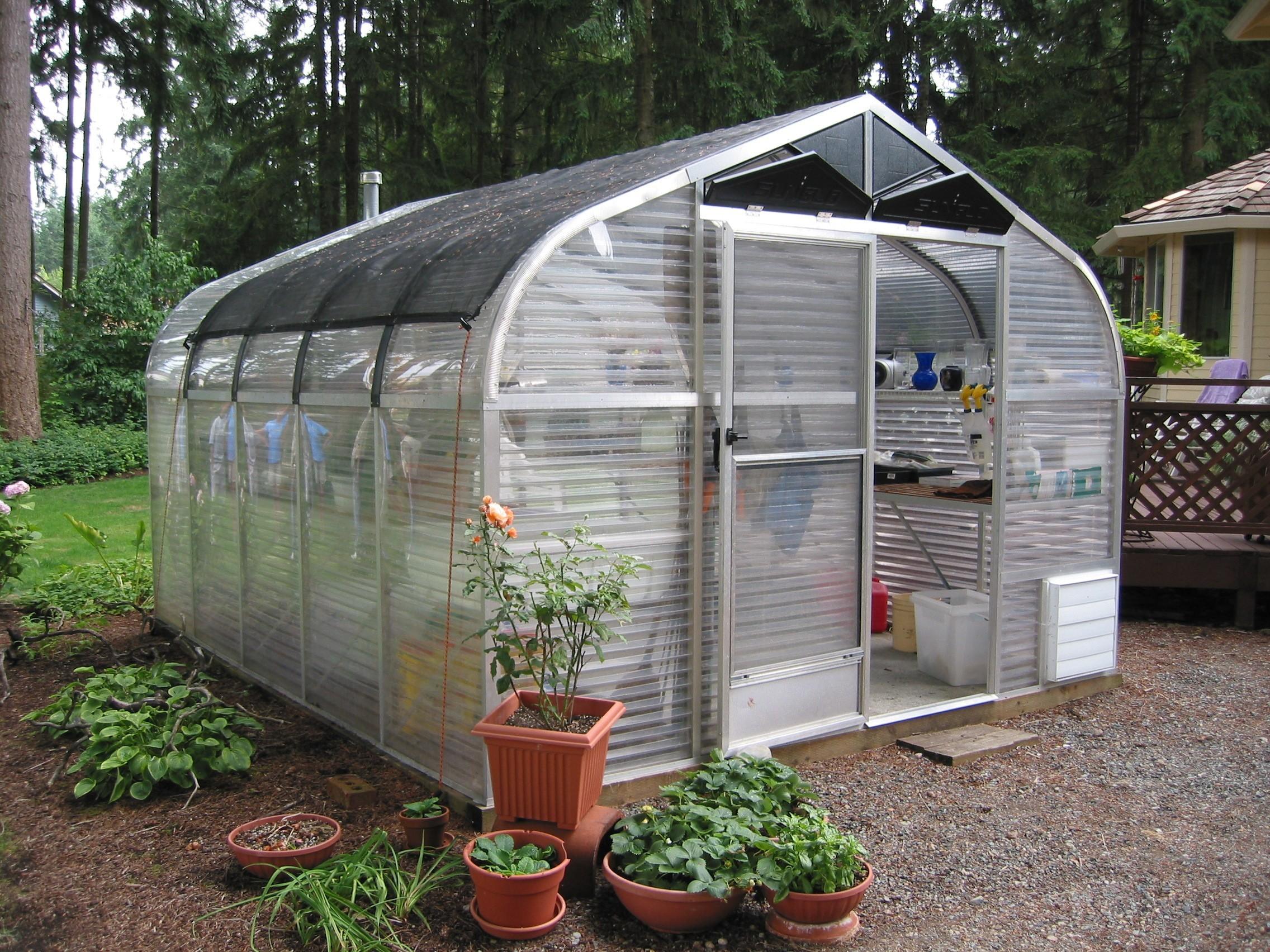 "SunGlo 1200f 10' 3"" x 17' 6"" Greenhouse - Premium Kit"