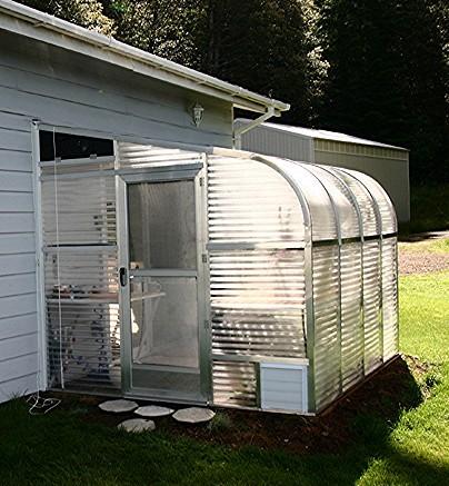 """SunGlo 1700e 7' 7"""" x 15' Lean-to Greenhouse - Premium Kit"""