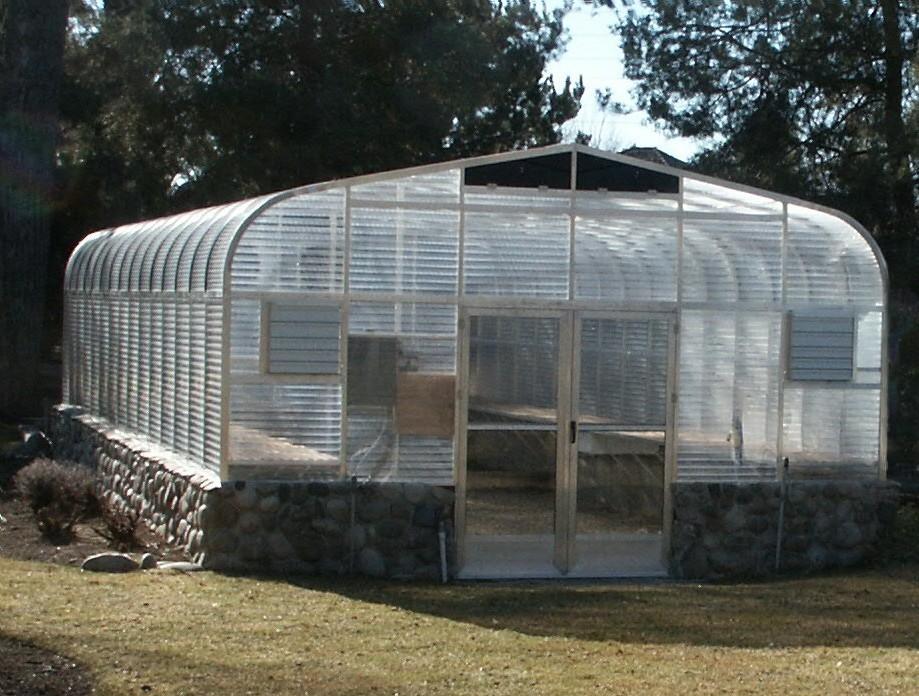 """SunGlo 2100e 15' 3"""" x 15' Greenhouse - Premium Kit"""
