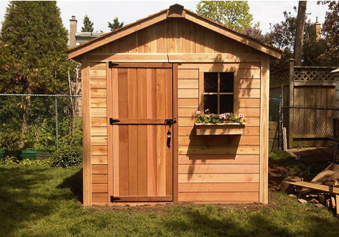 Outdoor Living Today - 8x8 The Gardener's Shed - Solid Door with 1 Functional Window with Screen