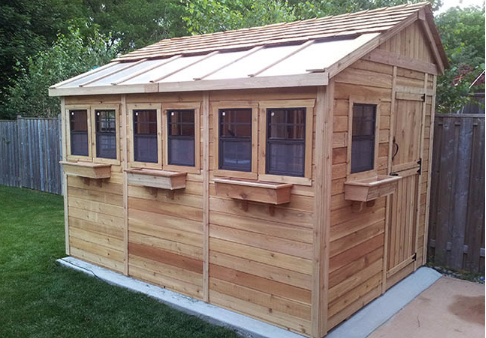 Outdoor Living Today - 8x8 Sunshed Garden Includes Dutch Door & 6 Functional Windows with Screens