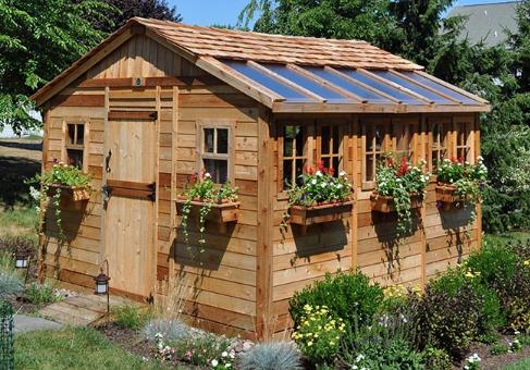 Outdoor Living Today - 12x12 Sunshed Garden Includes Dutch Door & 10 Functional Windows with Screens