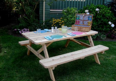 Outdoor Living Today   6x5 Cedar Picnic Table