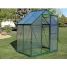 Brighton Greenhouse 6x4 Green