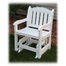 Garden Chair Glider - White