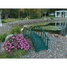 Large Decorative Garden Bridge w/rails - Green