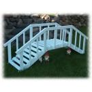 Large Decorative Garden Bridge w/rails - White