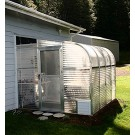 "SunGlo 1700d 7' 7"" x 12' 6"" Lean-to Greenhouse - Premium Kit"