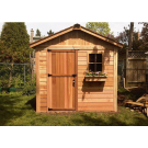 Outdoor Living Today - 8x8 The Gardener's Shed - Solid Door with 1 Functional Window with Screen