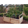 Outdoor Living Today - 6x3 Raised Cedar Garden Bed with Trellis Lid Kit
