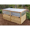 Outdoor Living Today - 6x3 Raised Cedar Garden Bed Mini Greenhouse Kit