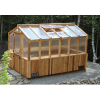 Outdoor Living Today - 8x12 Cedar Greenhouse Includes Heat Functioning Roof Window Vents