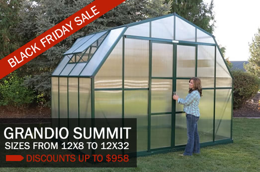 Grandio Summit greenhouses, as low as $2999.
