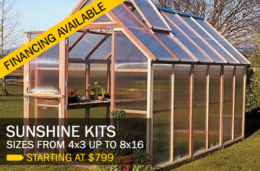 Sunshine greenhouses, special sale promotion.